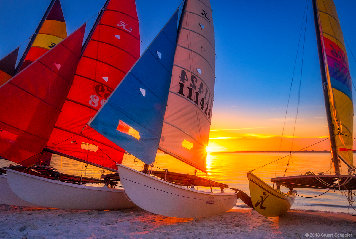 Hobie Cat Sunset